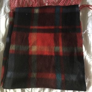 Fleece plaid scarf unisex